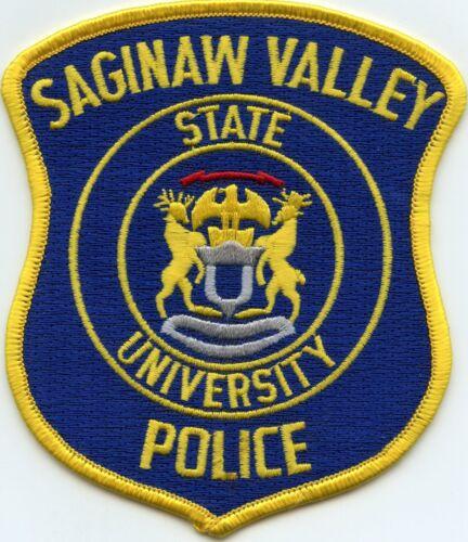 SAGINAW VALLEY STATE UNIVERSITY MICHIGAN MI Bright Blue Background POLICE PATCH