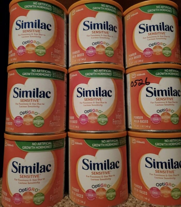 7 CANS SIMILAC SENSITIVE /12 oz each Brand New Unopened