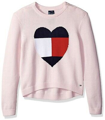 Tommy Hilfiger Long Sleeve Girl's Adaptive Pink Sweater Size: XL (Adapter Long Sleeve)