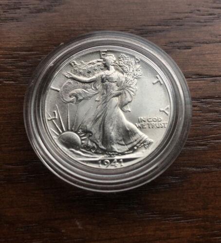 1941 SILVER WALKING LIBERTY HALF DOLLAR. CHOICE BU CONDITION  - $49.99