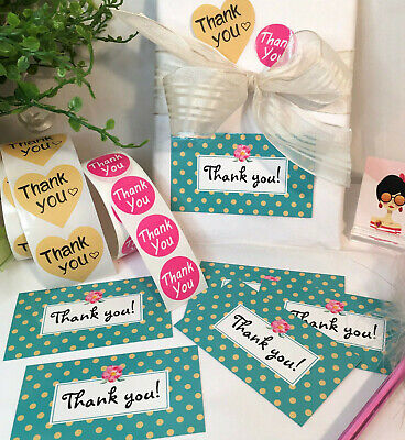 Thank You For Your Purchase Business Cards Stickers 25 Sets 25 Stickers