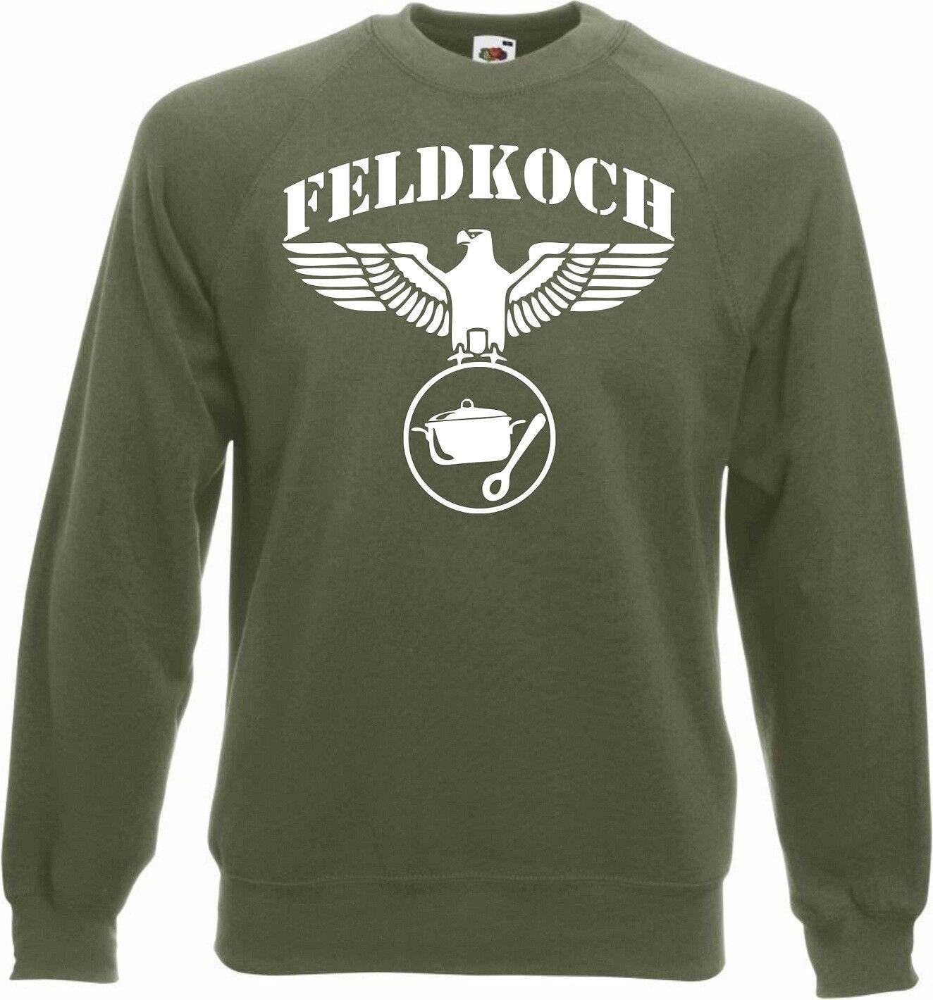 Pullover Feldkoch Wehrmacht Reichsadler Soldat Bundeswehr Armee T-Shirt Koch Top