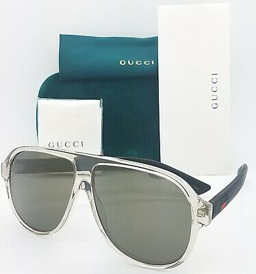 New Gucci Aviator sunglasses GG0009S 005 59mm Brown Opaque Bronze AUTHENTIC (Gucci Aviator Sunglasses Brown)