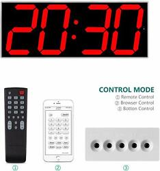 West Ocean 6 Digital Smart Large LED Wall Clock Jumbo Display with Remote via