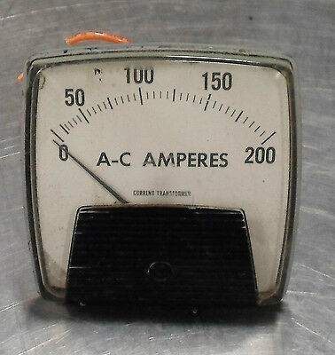 Ram Meter Ac Motor Load Analog Panel Meter 0-200 250340lsrl Used Warranty
