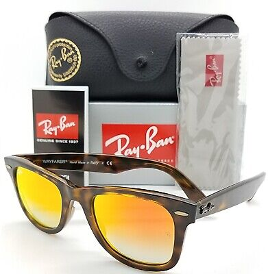 NEW Rayban Wayfarer sunglasses RB4340 710/4W 50 Orange Gradient Flash AUTHENTIC (Wayfarers Sunglasses Cheap)