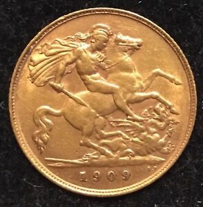 1909 22k gold full sovereign (Sell / Trade for Silver)