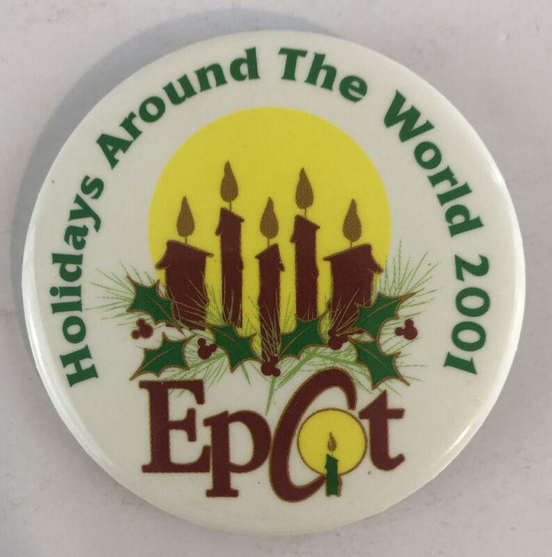 Disney World Epcot Button - Holidays Around the World 2001