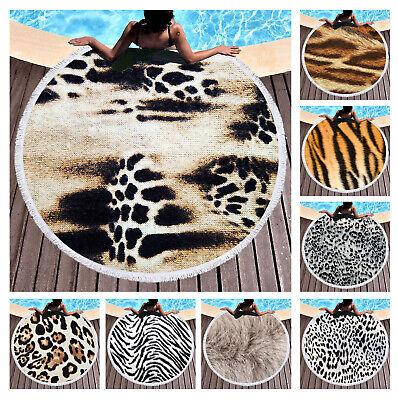 Drucken Strandtuch (Cool Tiere Fell Leopard Tiger Zebra Druck Sauna Bad Schwimmen Strandtuch Decke)