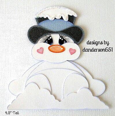 Chubby Snowman PreMade Paper Piecing 4 Border Scrapbook Album danderson651