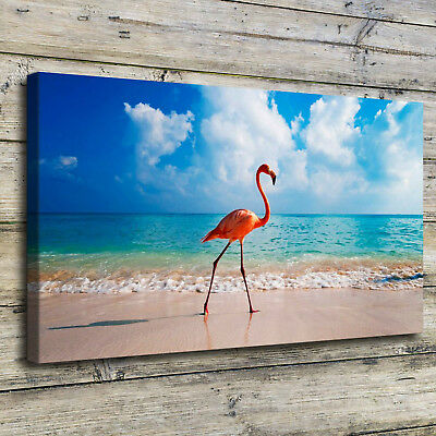 Flamingo Bird Beach Painting HD Print on Canvas Home Decor Room Wall Art Picture for sale  Shipping to Canada