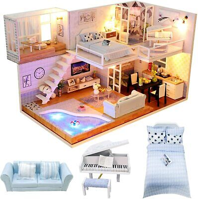 Barbie House 2 Story Dream Furniture Accessories Gate Dollhouse Girls Fun Play