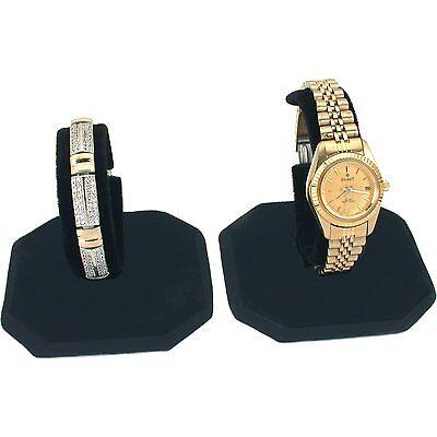 Black Velvet Watch Display Stands 101bk Set Of 2