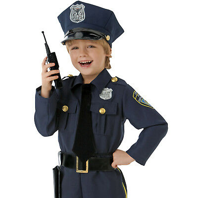 Amscan Police Officer Kids Child Cop Costume - 5 Piece Set
