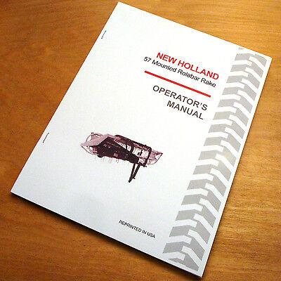 New Holland 57 Mounted Rolabar Hay Rake Operators Owners Book Manual Nh