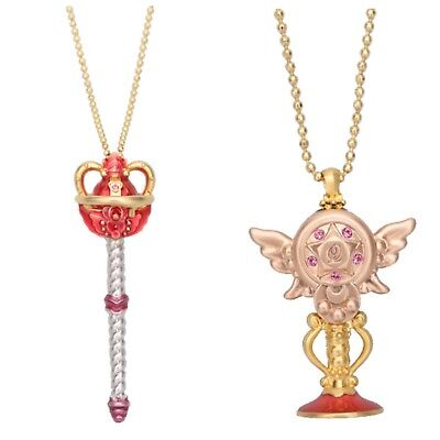 Sailor Moon Q-Pot Q Pot Eternal Tiare & Holy Moon Chalice Necklace Set & Gift, used for sale  Aliso Viejo