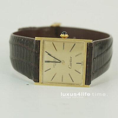 Antike Cartier Tank Uhr, 1969, 18KT GOLD by Universal Ultra Rare 29x25mm