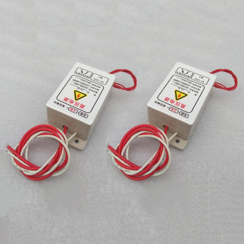 2 Pack CX-50 High Voltage Electrostatic Precipitator Power Supply 10KV 50W