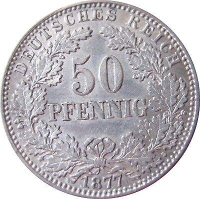 J  8   50 Pfennig  1877 H in f.STG   402712
