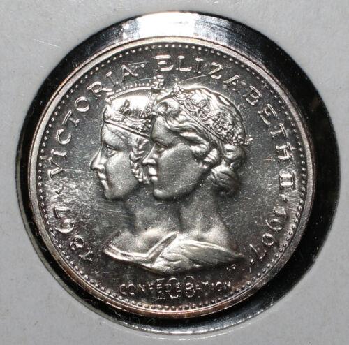 1967 Canada 25c Twenty Five Victoria-Elizabeth Silver Centennial Coin - 04027