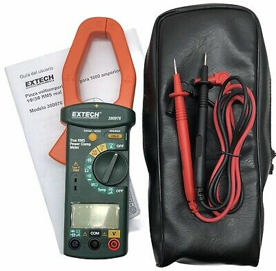 Extech 380976 1000 Amp True Rms Power Clamp Meter Free Shipping