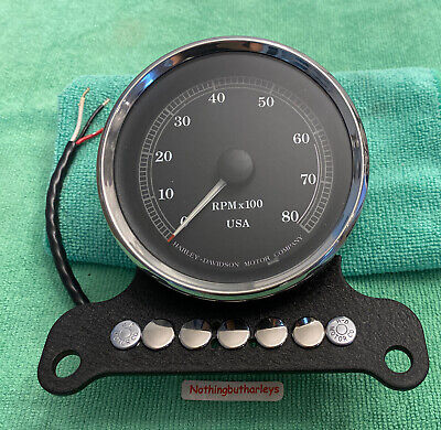 😲 Harley Davidson Tachometer in Mount 95-98 Sportster Dyna RoadKing Custom App