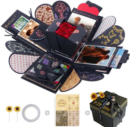 Creative Explosion Box,Love Memory DIY Photo Album Surprise Handmade Exploding
