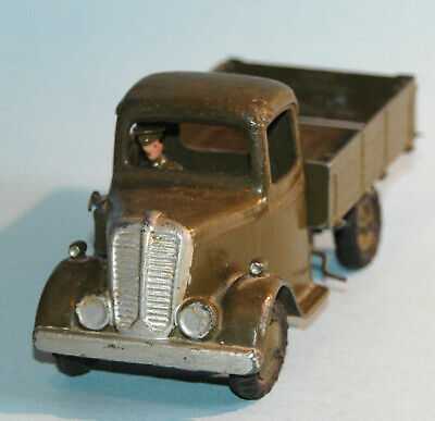 BRITAINS England vintage 1947 lead 1334 Tipping 4 Wheel ARMY LORRY with DRIVER