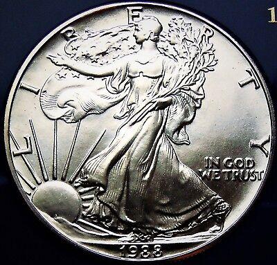 1988 American Silver Eagle BU 1 oz Coin US $1 Dollar Mint Brilliant Uncirculated