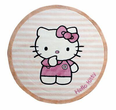 Hello Kitty 100 cm Runder Teppich Kinderteppich Teppich kinderzimmer Mädchen