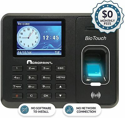 NEW Acroprint BioTouch Automated Biometric Time Recorder - 01-0276-000