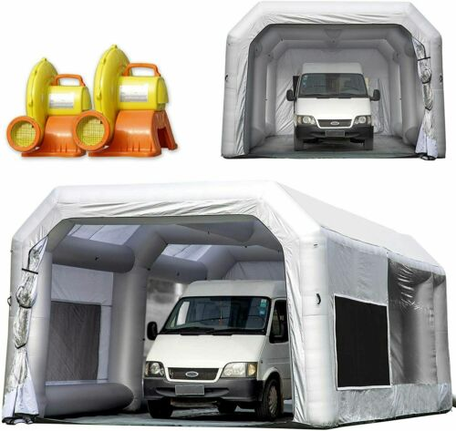 OZIS Inflatable Spray Paint Booth 30x16.5x11Ft  with (750w+1500w) Blowers