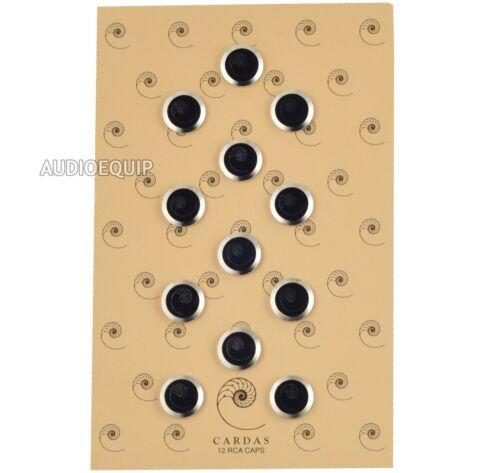 CARDAS AUDIO Noise Stopper RCA Caps Cover Plug Block Dust Shields RF EMI, 12 Pcs