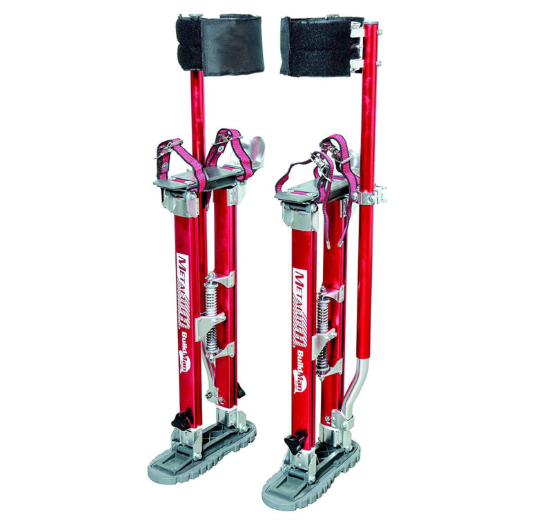 "Metaltech I-BMDS2440 BuildMan - 24""-40"" Adjustable Drywall Stilts (1 Pair)"