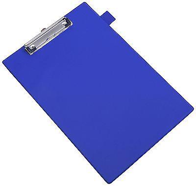 Value PVC Clipboard A4 Blue Clip Board