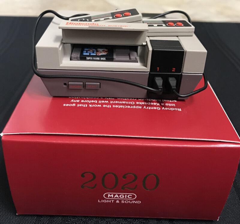 Hallmark Nes Console Nintendo Entertainment System 2020 Ornament Magic Tested