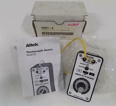 Altek Thermocouple Calibrator 3302t-k Series 22 Tc Source