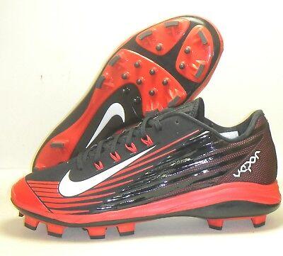 best service ffec1 91a6c New Nike Lunar Vapor Pro MCS Baseball Cleats Size 11.5 Black Red Molded
