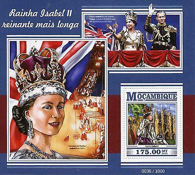 Mozambique 2015 MNH Queen Elizabeth II Longest Reigning Monarch 1v S/S Stamps
