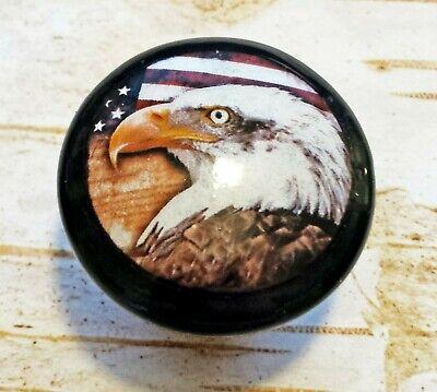 Patriotic Knobs (Handcrafted Eagle Knobs, Patriotic 1.5