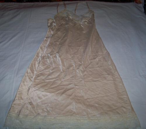 Vintage Christian DIOR Intimates Full Slip Size 36 White Lace Nylon Polyester