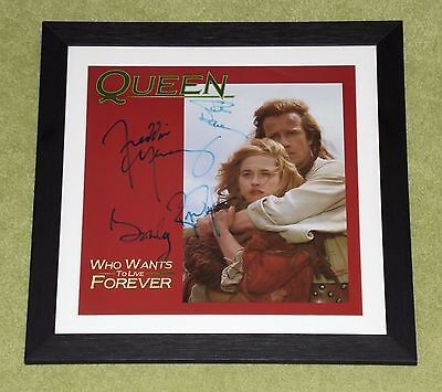 "QUEEN Fully signed 'Who Wants To Live Forever' 12"" - STUNNING! [Freddie Mercury]"