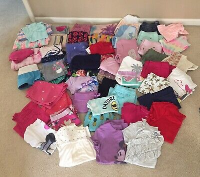 57PC LOT Girls Size 10 12 Spring Summer Clothes Justice Under Armour Abercrombie