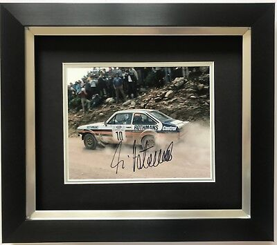 ARI VATANEN HAND SIGNED FRAMED PHOTO DISPLAY FORD RALLY.