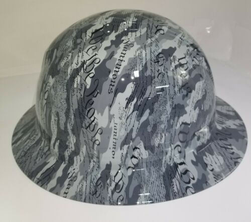 Hard Hat custom hydro dipped OSHA approved FULL BRIM,MILITARY CAMO WE THE PEOPLE 1