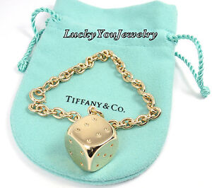 Itm Rare Vintage Tiffany Co 14k Gold Lucky Dice Charm Link Bracelet 7 Germany  262093532903 Cheap Tiffany Charms