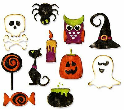Sizzix Thinlits Mini Halloween Things #662379 11pk set Retail $19.99 Tim Holtz