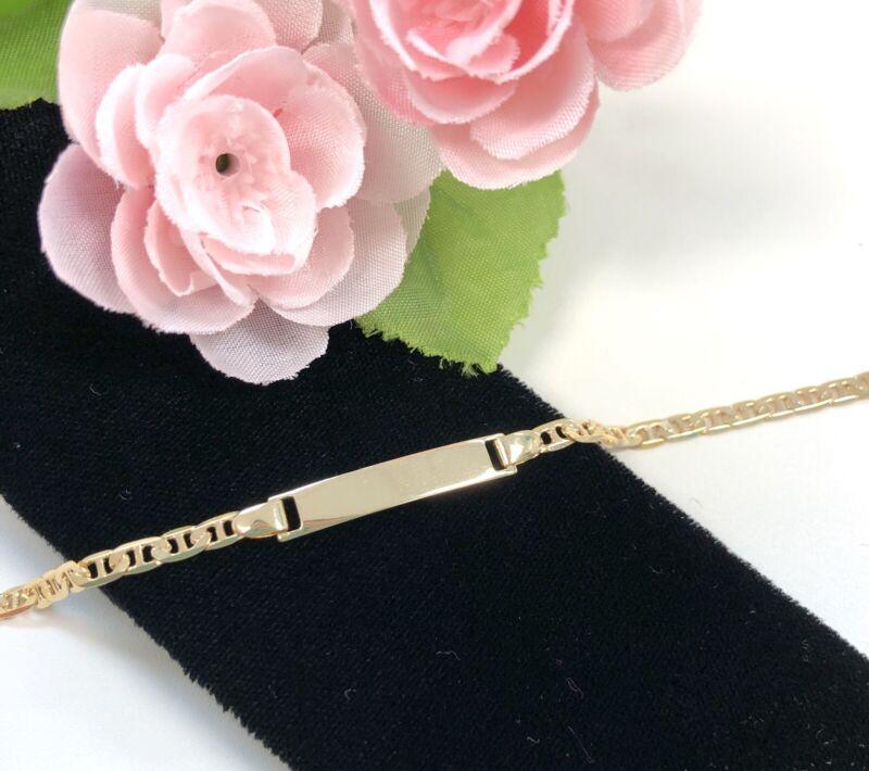 "14K Gold Filled Baby ID Bracelet, Free Engraving 6"", Pulsera de Bebe, Boy & Girl"