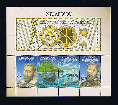 Niuafo'ou - 2016 400th Anniversary of Dutch Explorers Postage Souvenir Sheet
