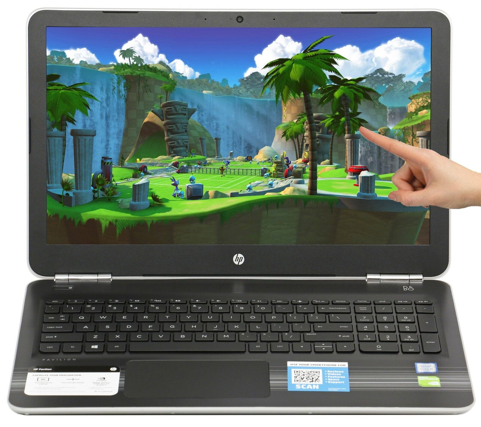 Купить HP - New HP 15.6 Touch NVIDIA 940MX i7-6500U 2.5GHz 12GB 1TB Win 10 Gaming Laptop